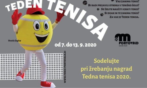 TEDEN TENISA 7.- 13. 9. 2020